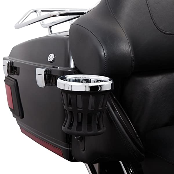 Ciro Drink Holder Passenger Perch Mount '14-up Harley-Davidson, Chrome 50422 (Color: Chrome, Tamaño: One Size)
