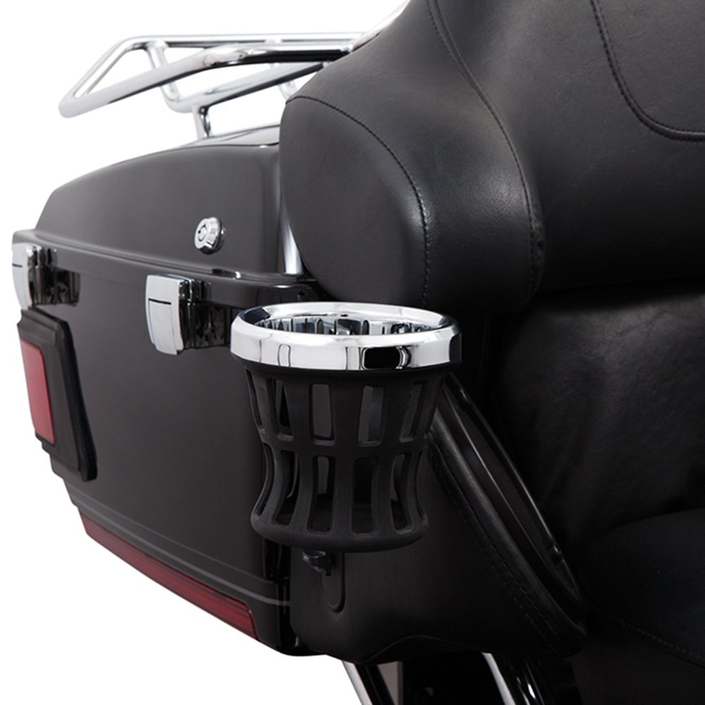 Ciro Drink Holder Passenger Perch Mount '14-up Harley-Davidson, Chrome 50422 by Ciro (Image #1)