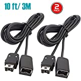NES Classic Controller Extension Cable 3M / 10ft (2-PACK), i-Kawachi SNES Extension Power Cord for Super Nintendo SNES…