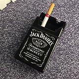 jack daniels accessories - YOURNELO Creative Cute Cratoon Cigarette Case Marlboro Ceramic Cigarette Ashtray for Home Car (Jack Daniel's)