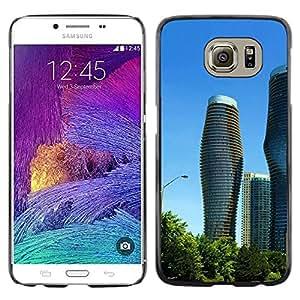 Be Good Phone Accessory // Dura Cáscara cubierta Protectora Caso Carcasa Funda de Protección para Samsung Galaxy S6 SM-G920 // Architecture Modern City Towers