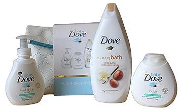 Set de regalo para baño, diseño de paloma de bebé, 4 piezas: Amazon.es: Bebé