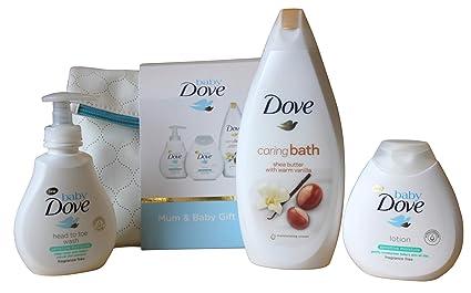 Set de regalo para baño, diseño de paloma de bebé, 4 piezas
