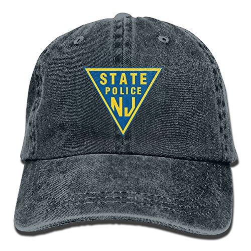 NJ State Police Cotton Adjustable Denim Hats Trucker Cap For - Police Cotton Hat