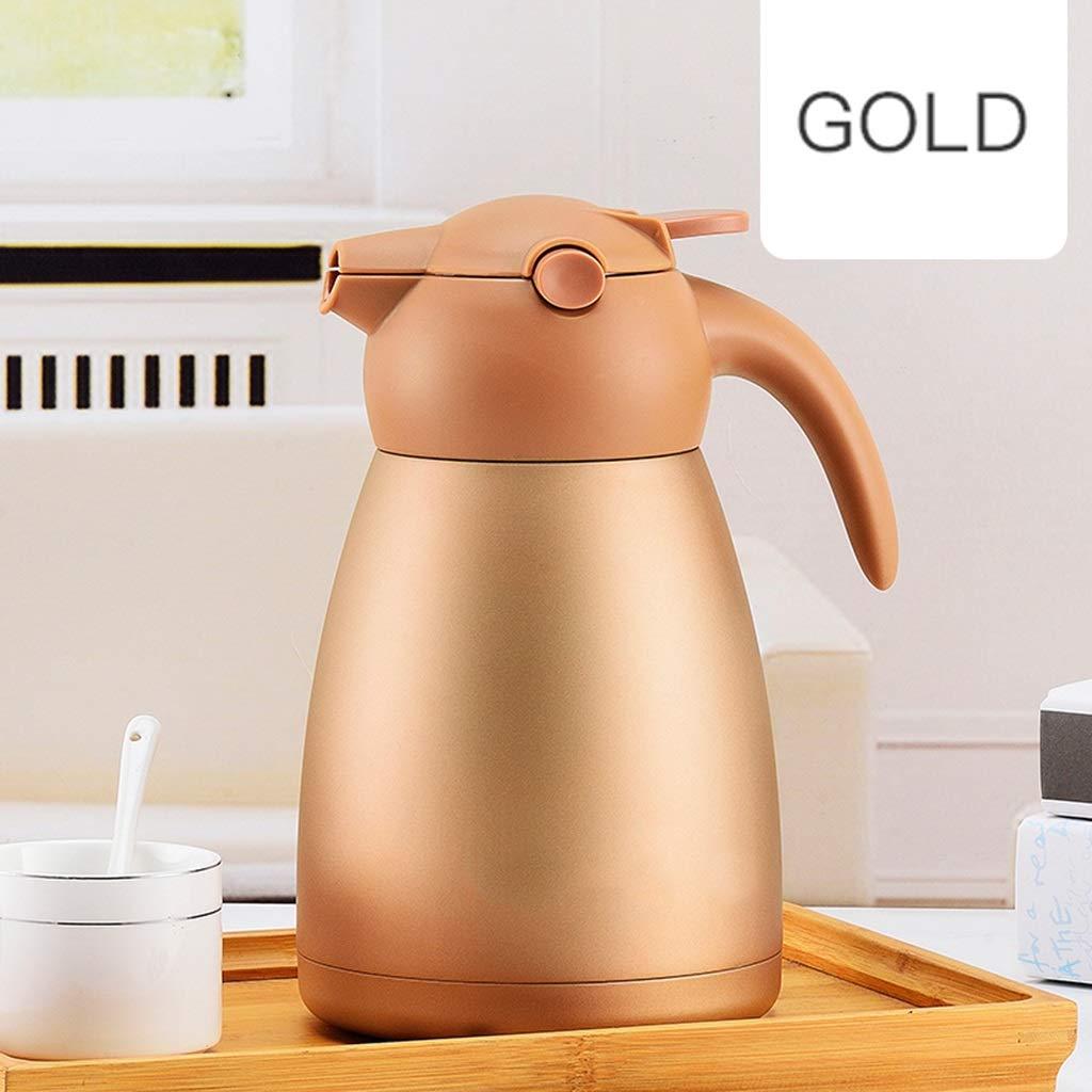 HTTDIAN 304ステンレス鋼家庭用断熱ポット▏真空湯たんぽカーケトル大容量魔法瓶 (色 : ゴールド) B07NV4Z1VR ゴールド