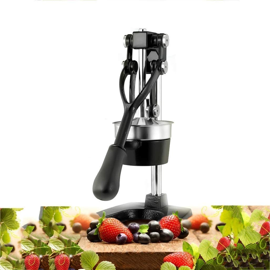 CJVJKN 304 Stainless Steel Manual Juicer Commercial Household Cast Iron Juice Extractor Suitable for Orange Pomegranate Lemon Watermelon Etc. (Color: Silver)