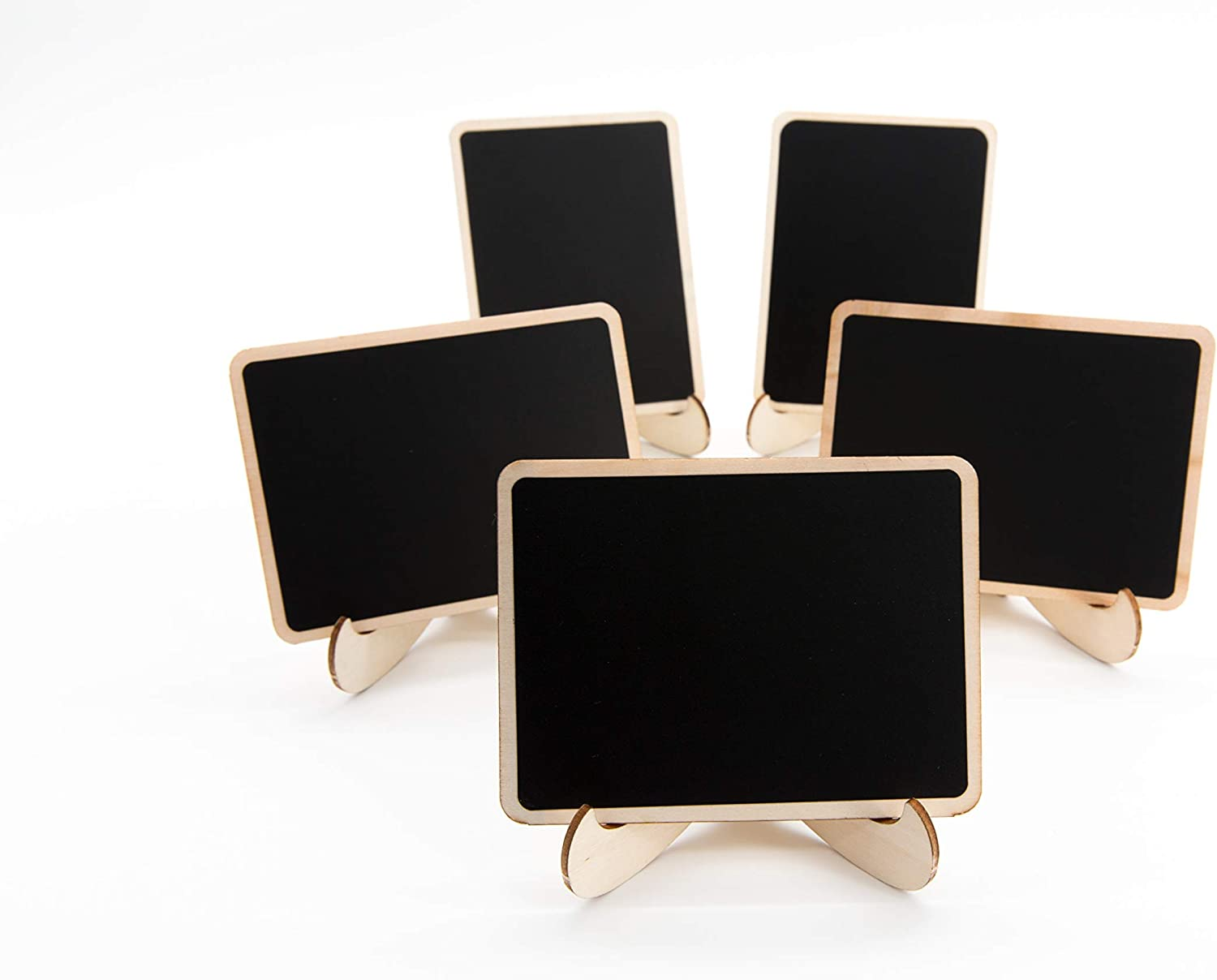 10 Pack Mini Chalkboards Signs with Easel Stand, Small Rectangle Chalkboards Blackboard