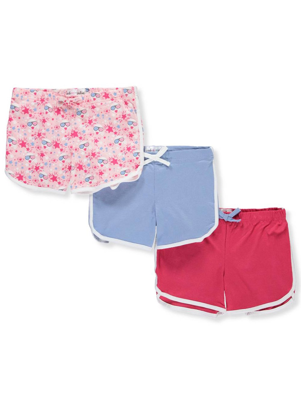Pink Velvet Girls' 3-Pack Shorts 10-12