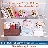 Hershii Tension Shelf Expandable Rod Closet