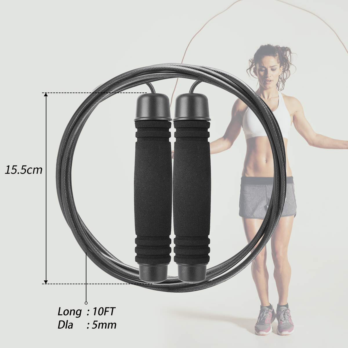 WOD TOBREFE Jump Rope Speed Skipping Rope Tangle-Free Jumping Skip Rope for Men Crossfit MMA /& Boxing Professional Training Fitness Women Outdoor Adult Adjustable to All Heights for Workout