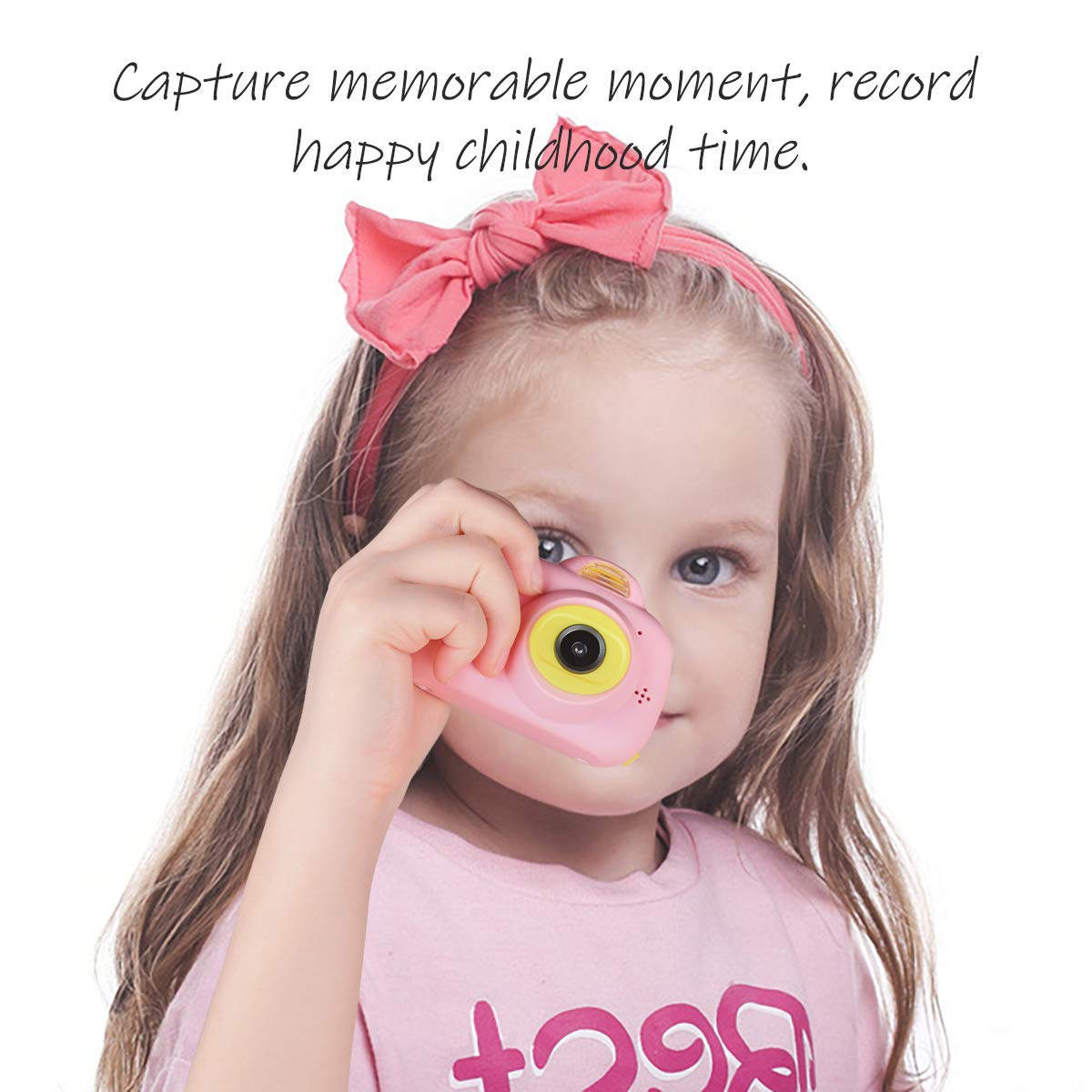 Funkprofi Kids Camera 1080P 8MP Front & Rear Camera Clear Digital Recorder Camcorder for Kids, Selfie Function, Funny Frames, Face Recognition, Support 32GB Memory Card, Best Gift for Boys and Girls by Funkprofi (Image #3)