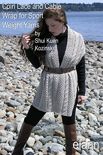 Amazon Elann Knitting Pattern Coin Lace And Cable Wrap For