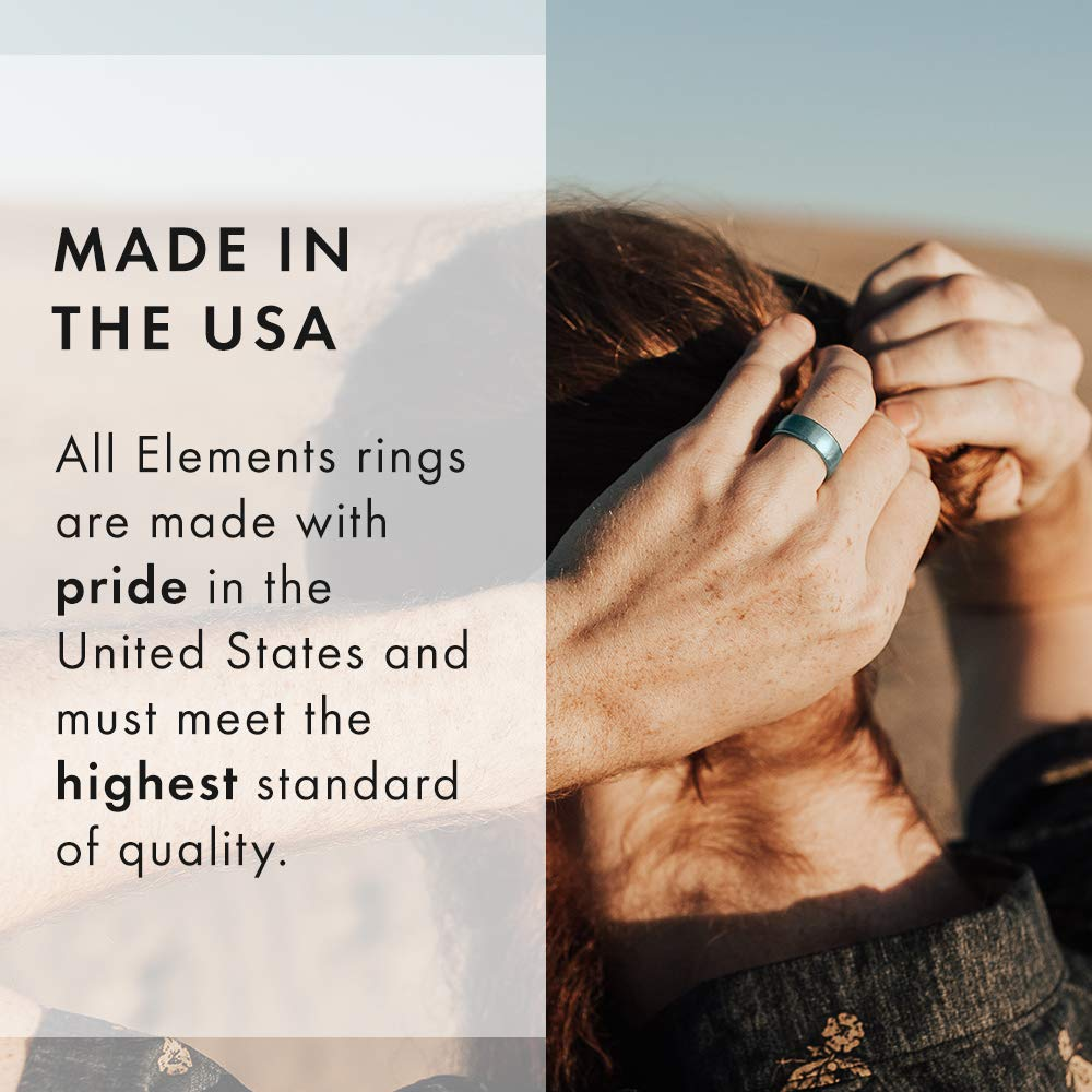 and Safe Silicone Ring Made in The USA an Ultra Comfortable Breathable Enso Rings Classic Legend Silicone Ring Mens and Womens Silicone Wedding Ring