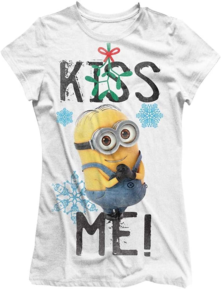 Cattivissimo Me - Ufficiale da Donna T-Shirt Vischio Minions - Kiss Me!