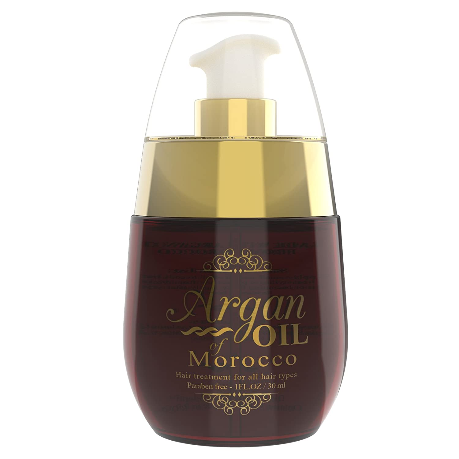 Moroccan Argan Oil with Castor oil & TEA Tree Oils Silkiest Healthiest Hair Yet. Best Natural Treatment Oil to Strengthen, Condition, Thermal Protect Dry Brittle Hair Instantly!