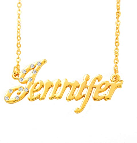 Personalized Name Necklace in 925 Sterling Silver Script Font 18k Gold Rose plated Custom Made with Any Name Handmade
