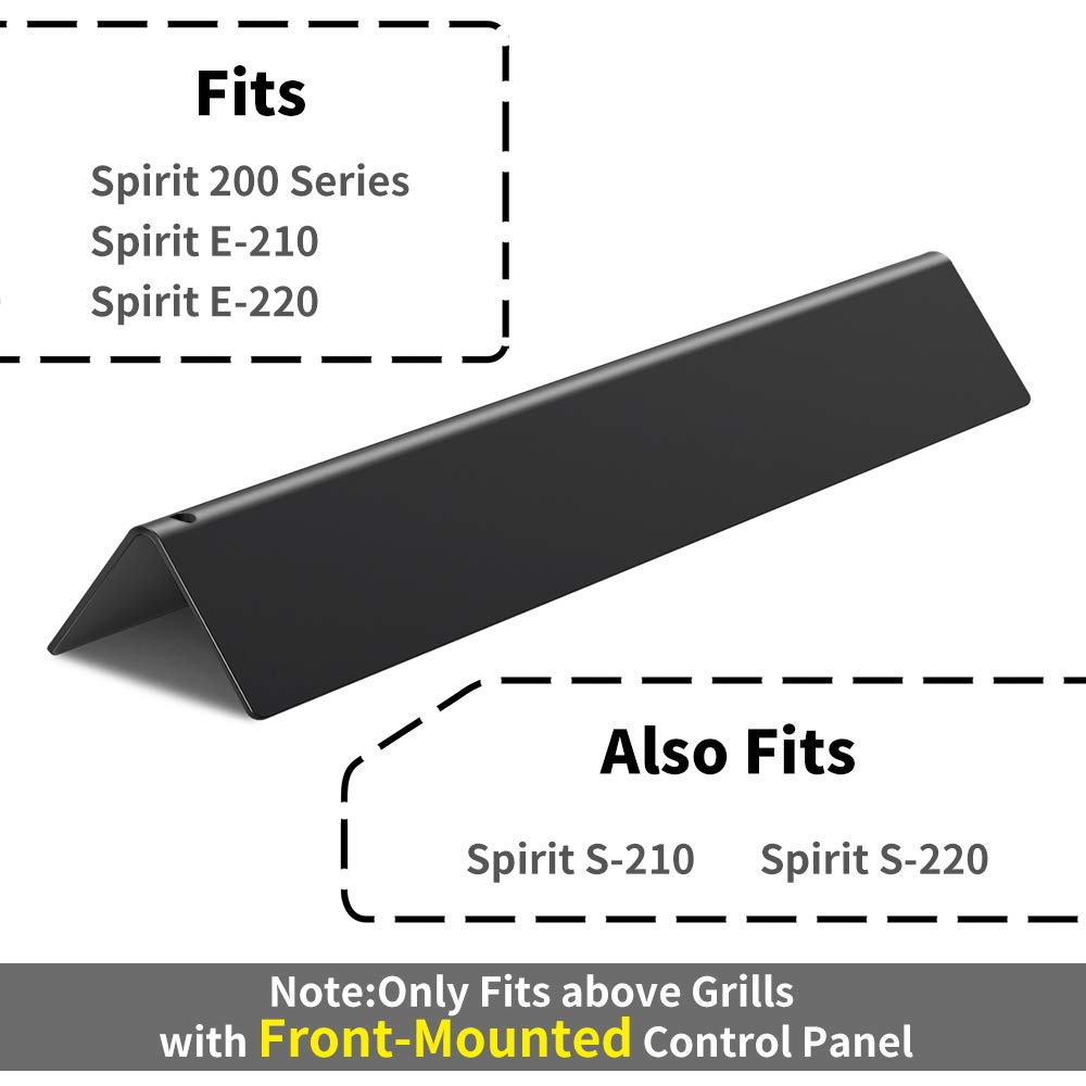X Home 7635 Flavorizer Bars 15.3'' Replacement for Weber Spirit E210 Grill Parts, for Spirit 200 Series, E-220 S-210 S-220, with Front-Controls, Set of 3 Porcelain Steel Flavor Bars (15.3 x 3.5 x 2.5) by X Home (Image #3)