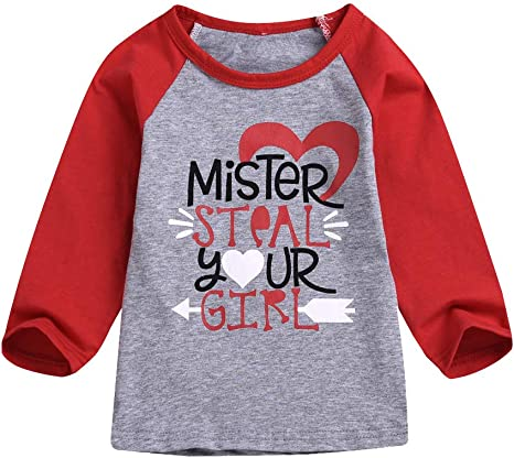 Lingery Valentine Baby Sweater,Toddler Baby Kids Girls Valentines Day Heart Sweater Knit Pullover T-Shirt Tops
