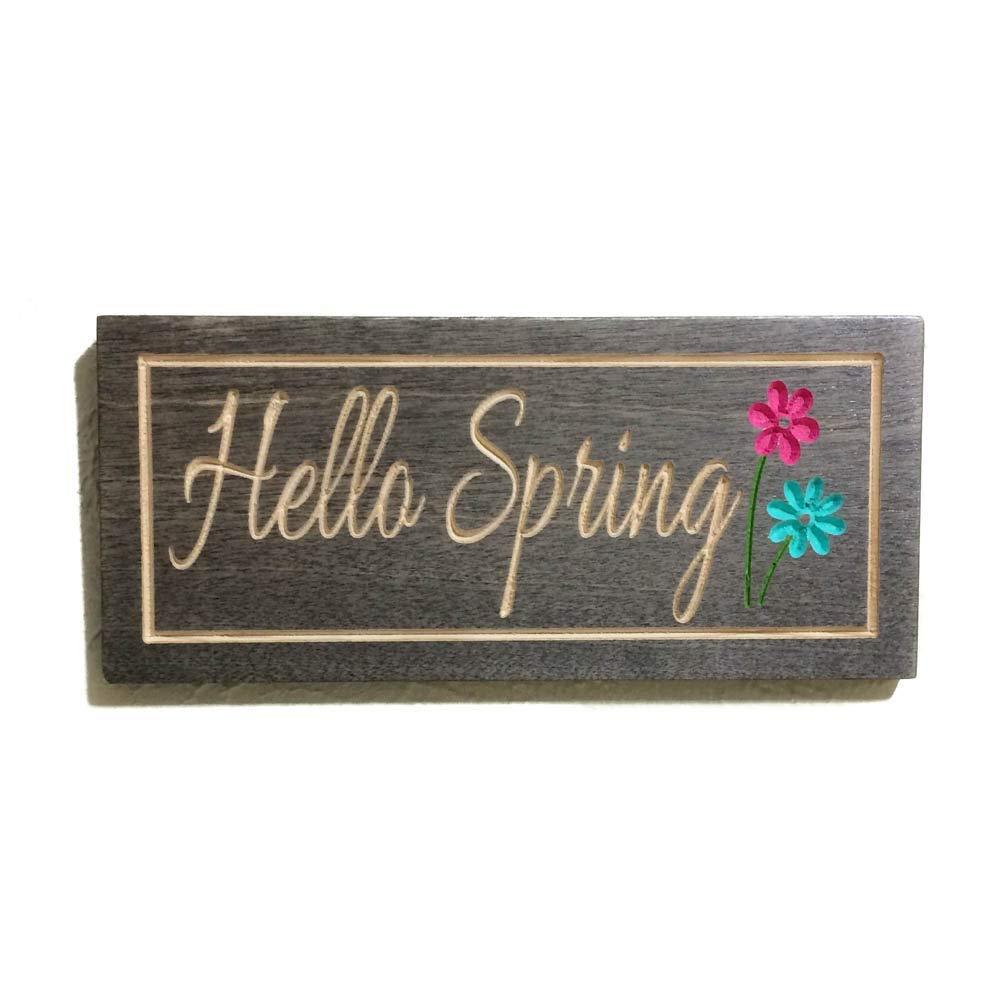Hello Spring Sign Wooden Door Decor For Spring