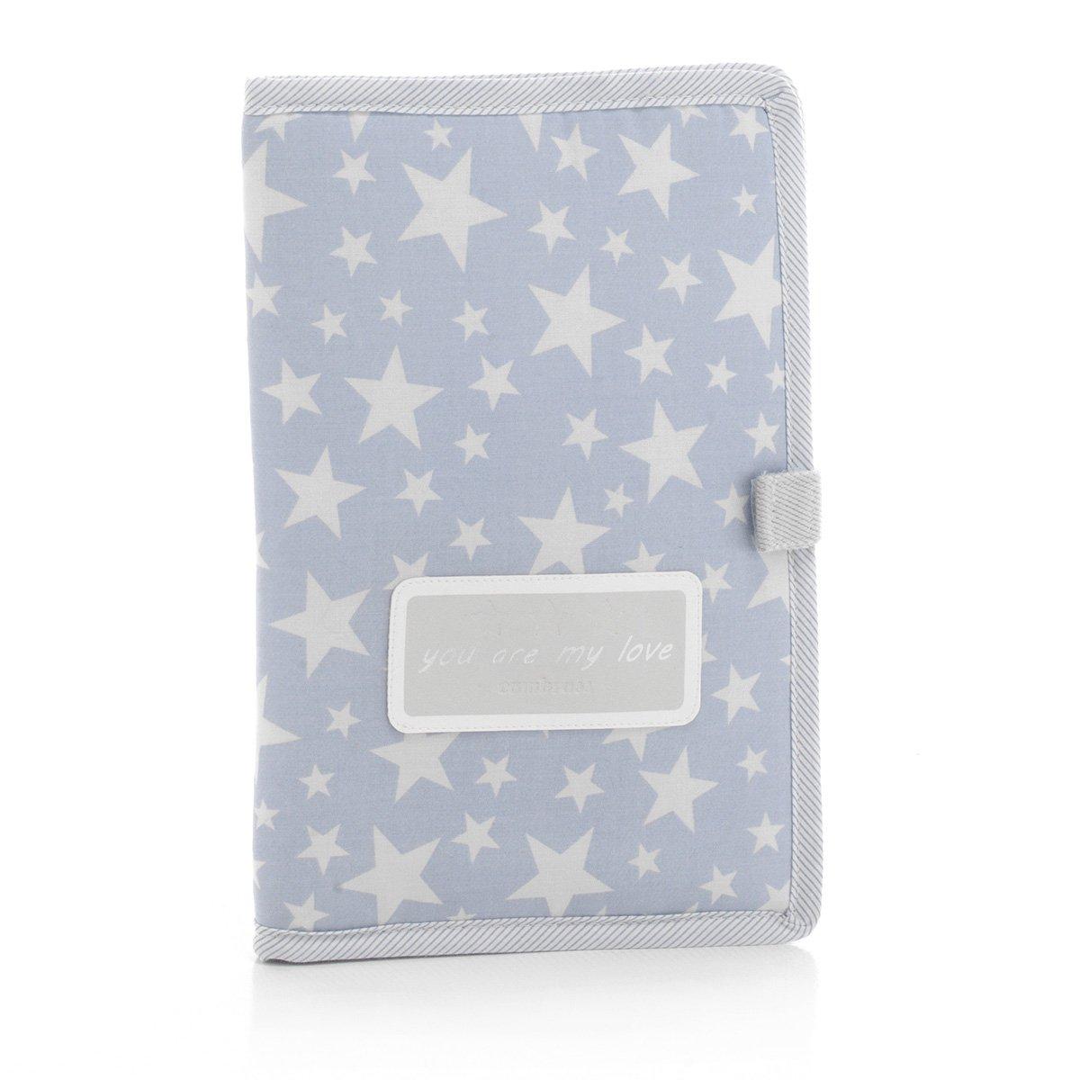 Cambrass Protège-Carnet de Santé Star Bleu 3 X 17 X 25 cm 35484.0
