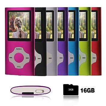 Ueleknight MP3 / MP4 Player con a Tarjeta Micro SD de 16GB ...