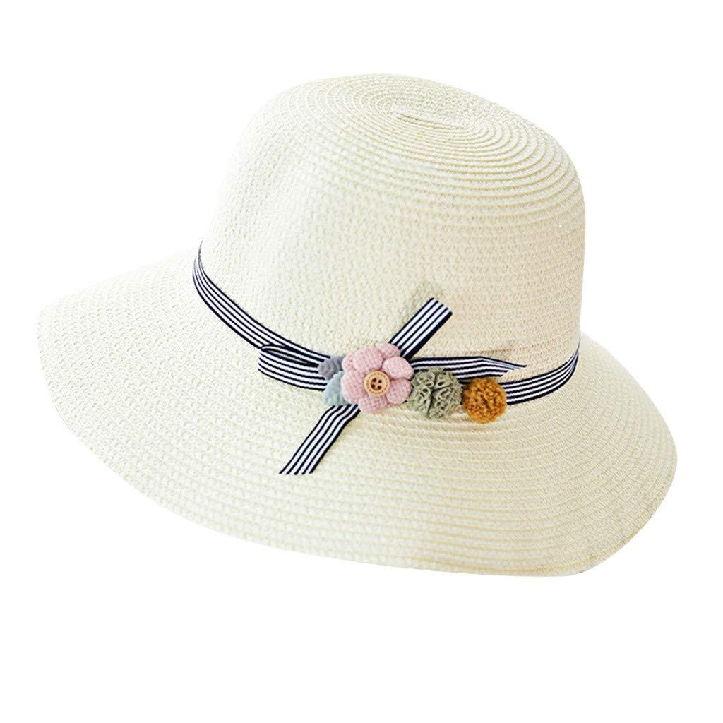 Yamally Summer Sun Beach Hat, Straw Sun Hat for Women Beach Wide Brim Packable Roll up Hat Beach Sun Hat