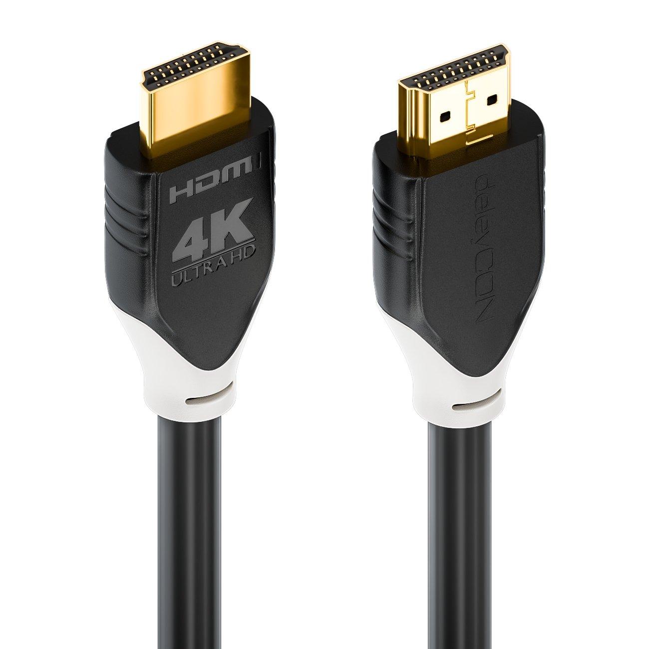 UHD 4K@60Hz YUV 4:4:4 HDCP 2.2 3D ARC Weiß deleyCON 5m HDMI Kabel HDR10