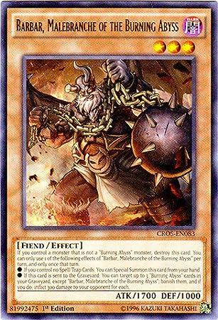 Yu-gi-oh Barbar Malebranche Of The Burning Abyss CROS-EN083 1st