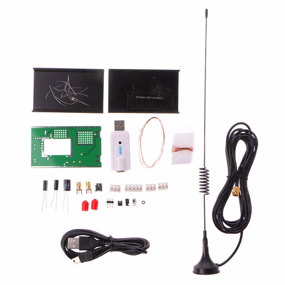 POYING Receiver DIY Kit DIY Kit 100KHz-1.7GHz UV HF FM AM RTL-SDR USB Tuner Receiver RTL2832U+R820T2