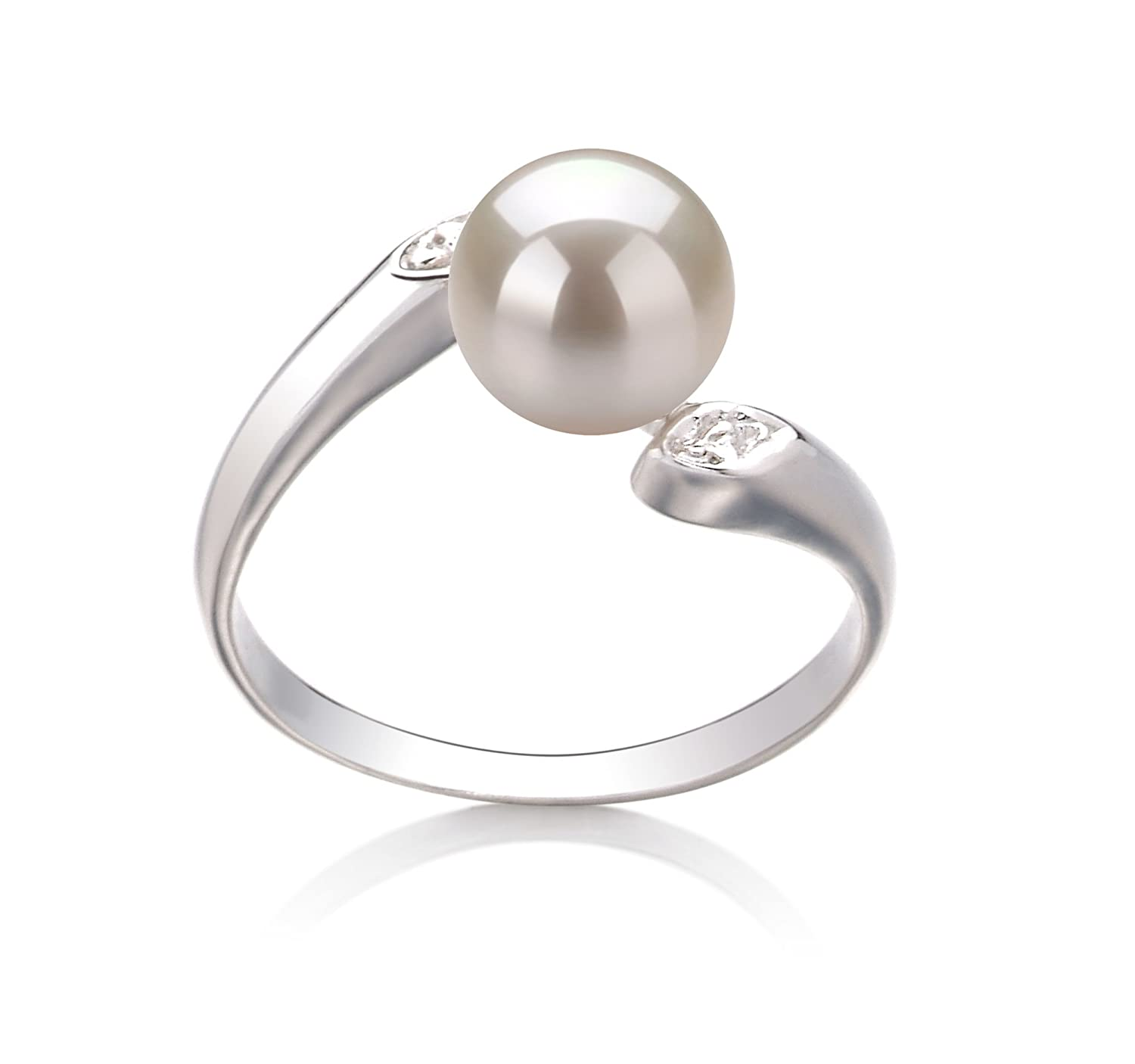 White 6-7mm AAA Quality Freshwater 925 Sterling Silver Cultured Pearl Ring