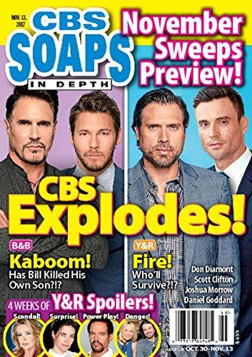 CBS Soaps In Depth Magazine - November 13, 2017 - Don Diamont & Scott Clifton (Bold & the Beautiful) l Joshua Morrow & Daniel Goddard (Young & the Restless)