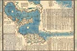 "1847 Map of the Izu Islands, Japan - 24""x36"" Poster"