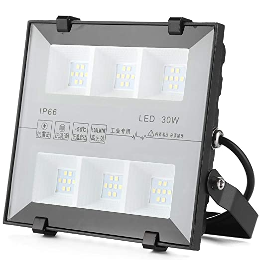 QinTian 30W Focos LED Exterior, 3000LM Floodlight Led Foco ...