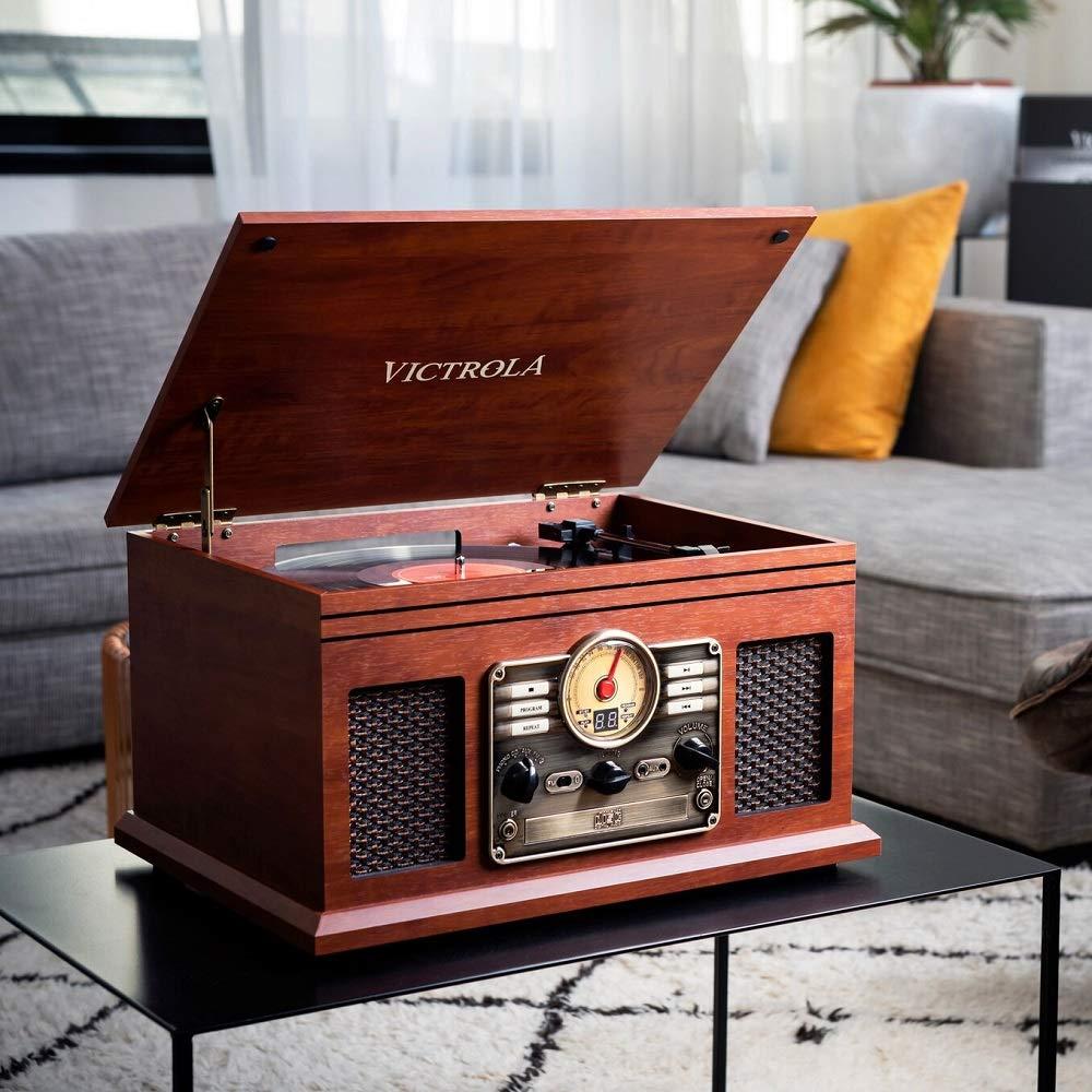 Victrola Classic Sistema de Sonido Tocadiscos 6-in-1 Bluetooth ...