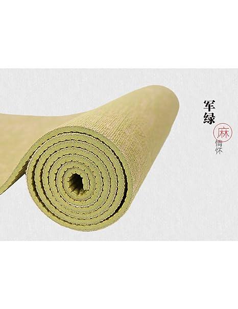 EYCFSJ 183 * 61 Cm * 5 Mm Natural Yute Yoga Pad Pad Eco ...