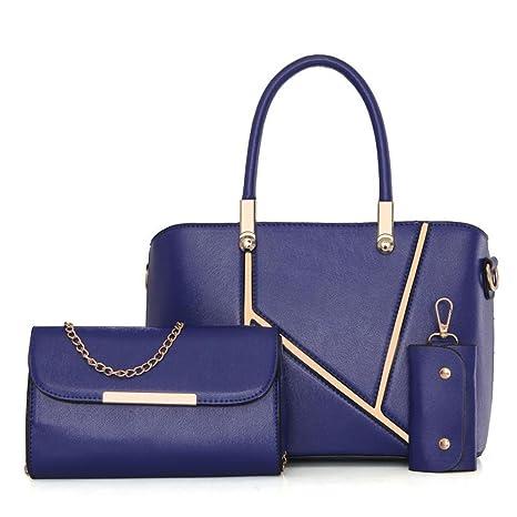 Penao bolso de tres conjuntos, señora moda palabra K costuras solo Prüne, tamaño 30cmx12cmx22cm