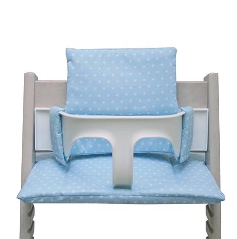 Blausberg Baby - Cojín para la trona Tripp Trapp - azul claro con estrellas