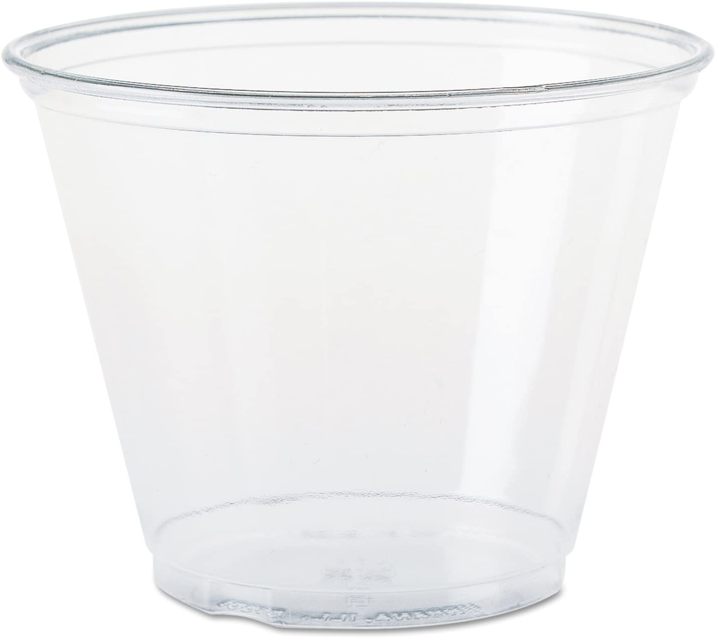 Solo Foodservice TP9R Cold Cup, 9 oz, Clear Squat (Pack of 200)