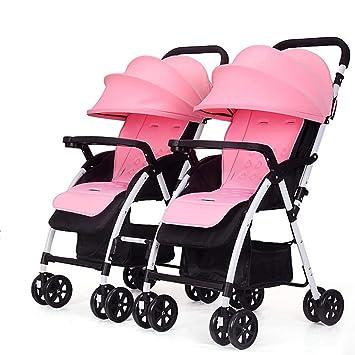 BABY CARRIAGE ZLMI Carrito de bebé Doble Plegable portátil reclinable Carretilla Desmontable Adecuado para 0-3 años de Edad,A: Amazon.es: Deportes y aire ...