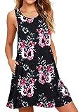 WEACZZY Women Summer Casual Swing T Shirt Dresses Beach Cover up Loose Dress