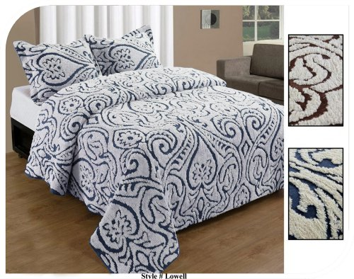 picture of Lowell Bedspread Twin Blue White