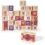 Uncle Goose Hindi Blocks - Made in USA