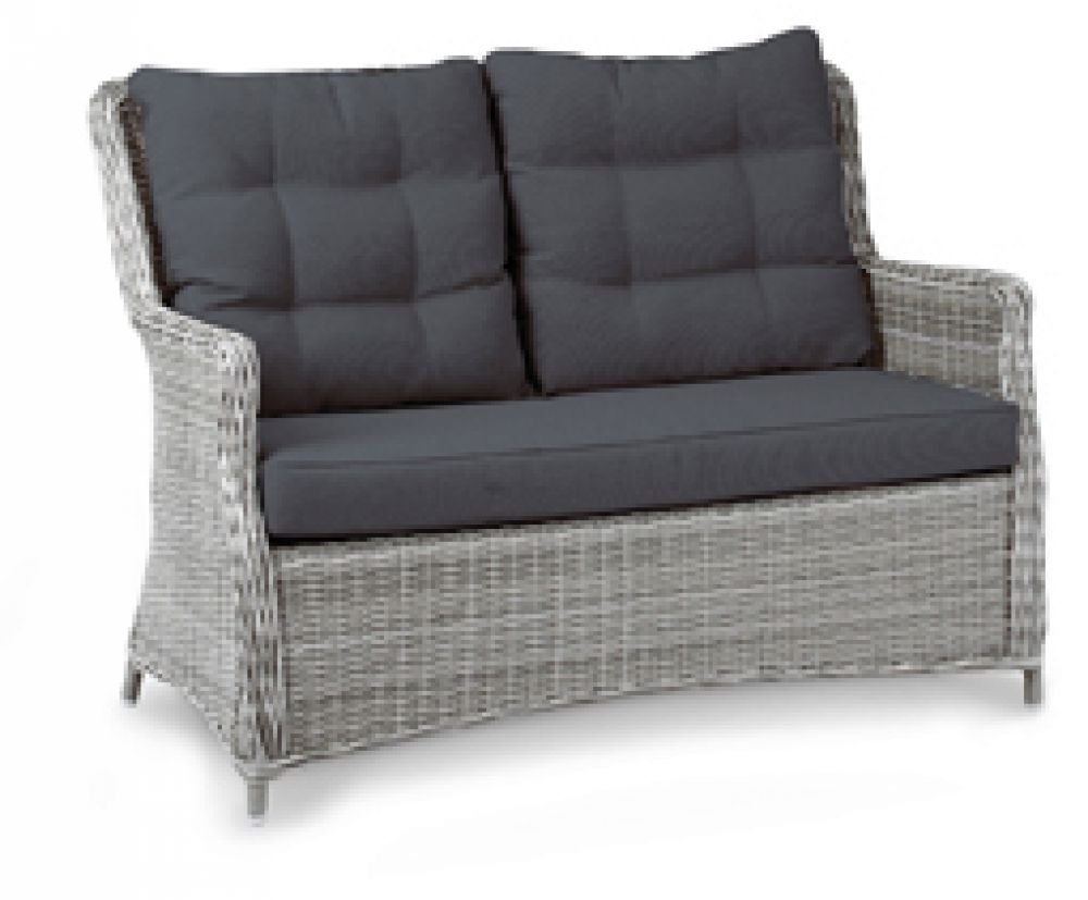 Beauty Scouts Gartencouch, Loungecouch Bali 2-Sitzer warm- grey