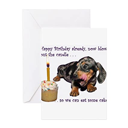 Amazon cafepress dachshund happy birthday greeting cards cafepress dachshund happy birthday greeting cards greeting card note card birthday card m4hsunfo