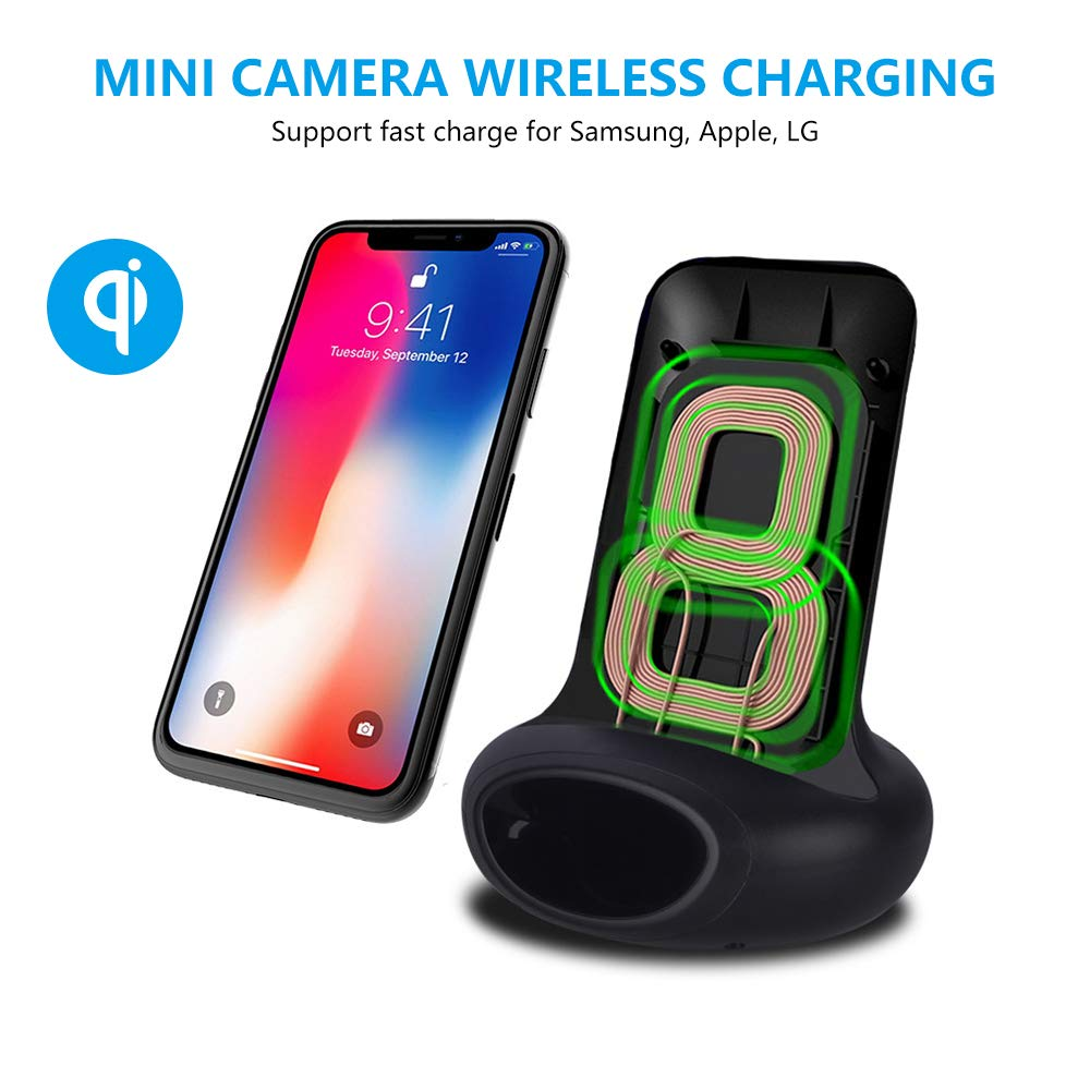 Portable Charger Camera Home Security Nanny Cameras Loop Video ...