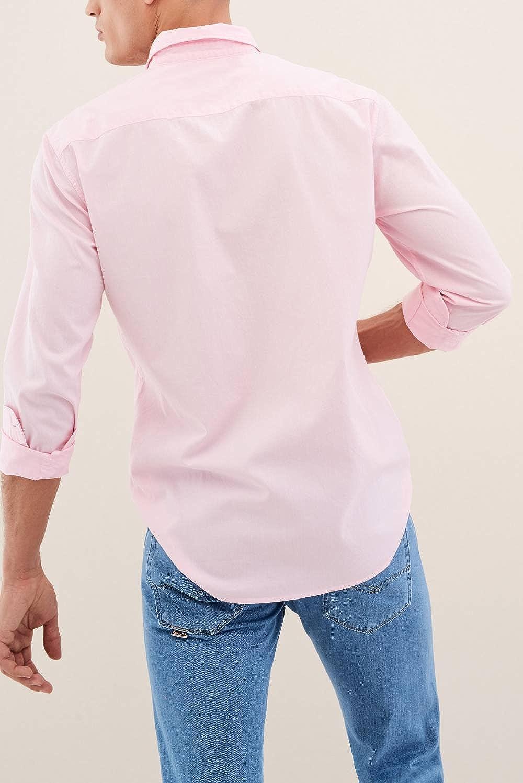 Camisa Hombre Salsa Bolsillo Rosa: Amazon.es: Ropa