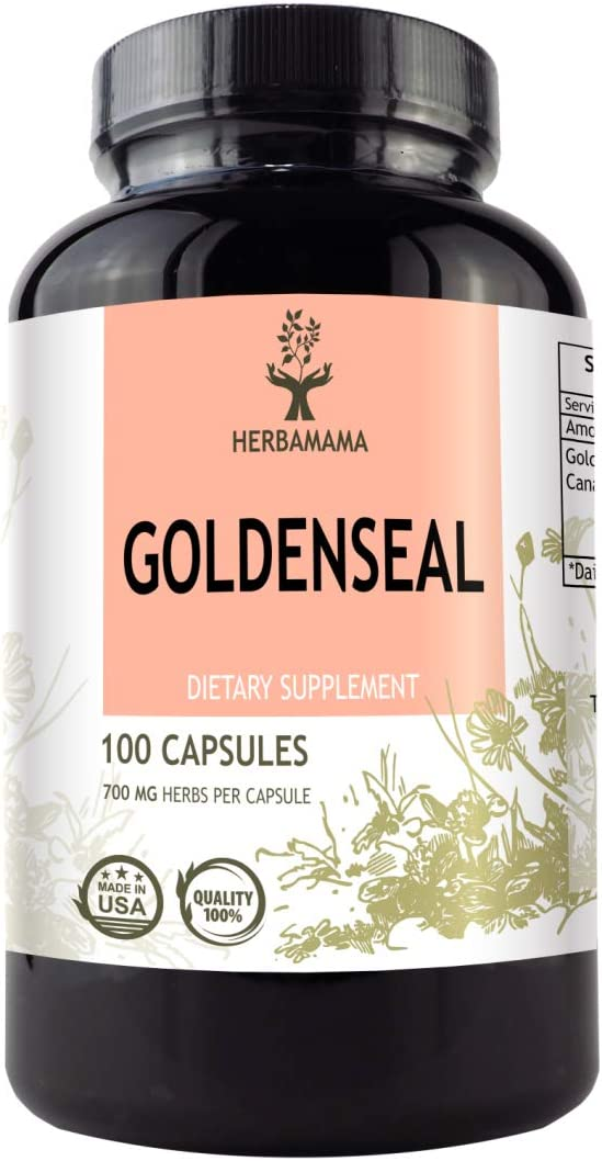 Goldenseal 100 Capsules 700 mg Filled