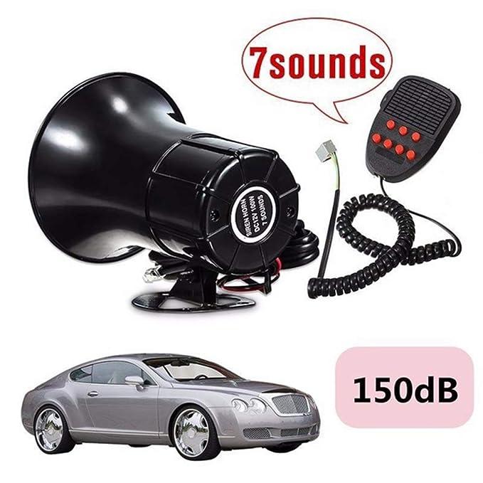 Amazon.com: Shentesel 12V 50W Loud 7 Sounds Tone Horn Siren ...
