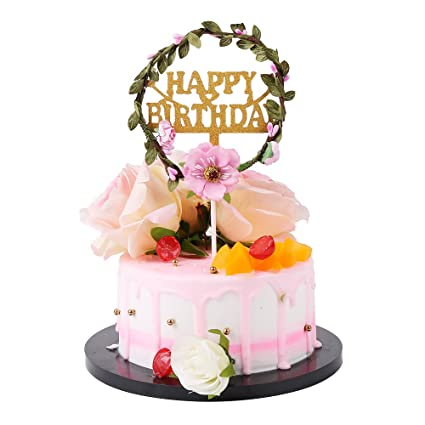 Amazon Cake Birthday Its A Girl Wreath Leaves Anniversary