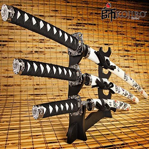 K EXCLUSIVE Kojiro Koi Samurai Warrior 3-Piece Sword Set ()